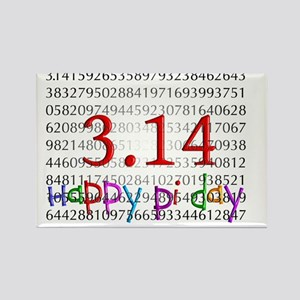 Happy Pi Day numbers 2012 Rectangle Magnet