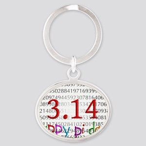 Happy Pi Day numbers 2012 Oval Keychain