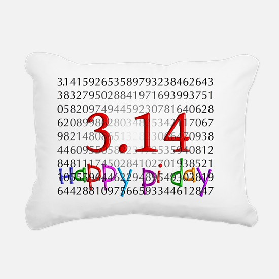 Happy Pi Day numbers 201 Rectangular Canvas Pillow