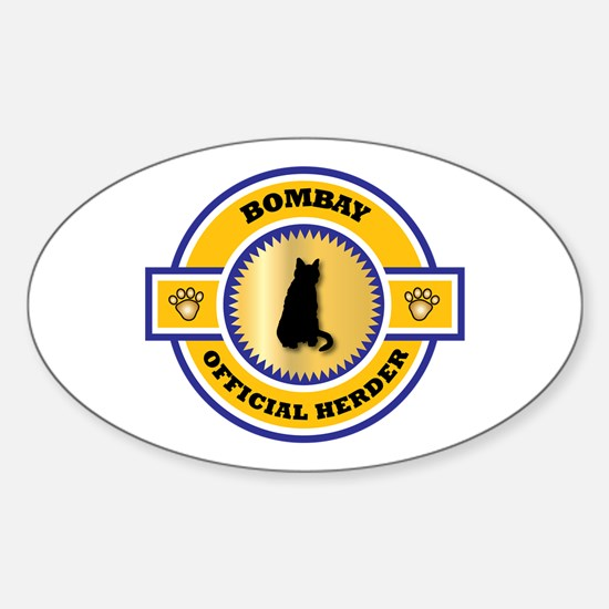 Bombay Herder Oval Decal