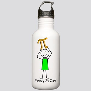 Happy Pi Day Stickman  Stainless Water Bottle 1.0L