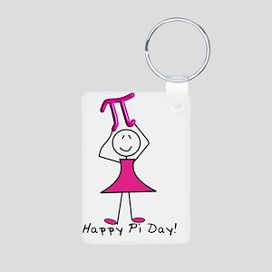 happy pi day stick lady pi Aluminum Photo Keychain