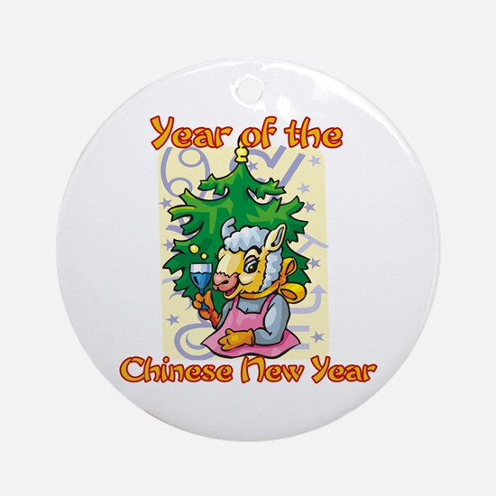 Chinese New Year Year of the Ram Ornament (Round)