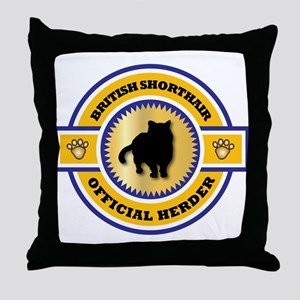 Shorthair Herder Throw Pillow