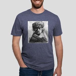 Rembrandt in a heavy fur cap - Rembrandt - 1631 Me