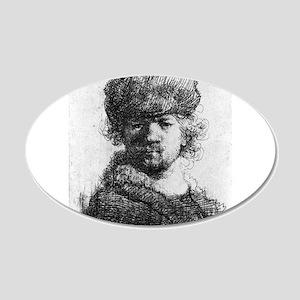 Rembrandt in a heavy fur cap - Rembrandt - 1631 20