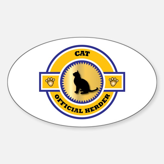 Cat Herder Oval Decal