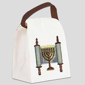 Torah Menorah Canvas Lunch Bag