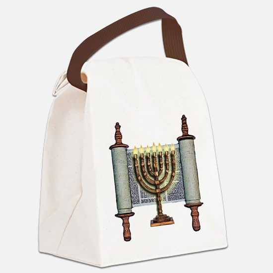 Torah Menorah Canvas Lunch Bag