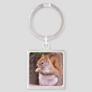 squirreleating Square Keychain