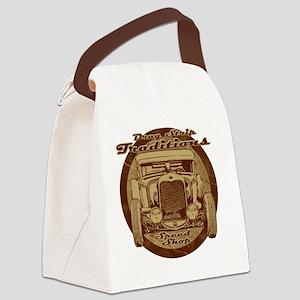 drag strip speed shop Canvas Lunch Bag