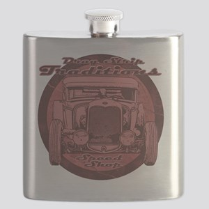 drag strip traditions red Flask