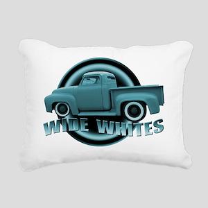 wide whites blue Rectangular Canvas Pillow
