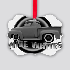 wide whites gray Picture Ornament
