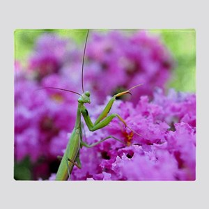 Puzzle Preying Mantis Throw Blanket