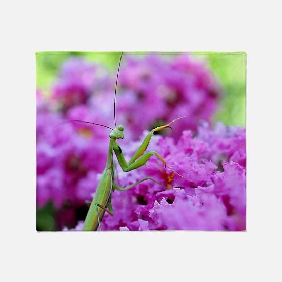 Puzzle Preying Mantis Throw Blanket