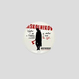 Raskolnikov. Crime and Punishment T-Sh Mini Button