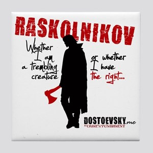 Raskolnikov. Crime and Punishment T-S Tile Coaster