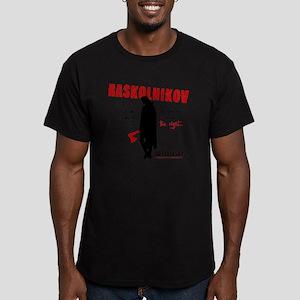 Raskolnikov. Crime and Men's Fitted T-Shirt (dark)