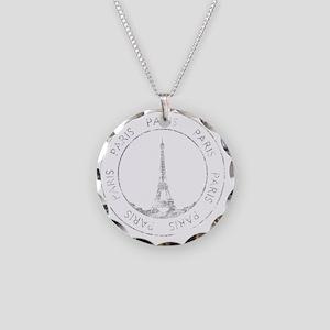 VintageFrance8Bk Necklace Circle Charm