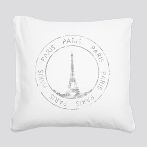 VintageFrance8Bk Square Canvas Pillow