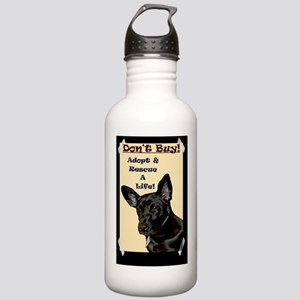 lily_tape_black_bg Stainless Water Bottle 1.0L