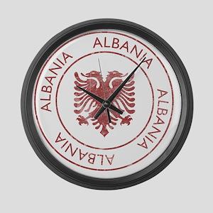 albania9 Large Wall Clock