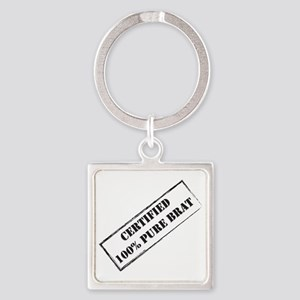 Certified Brat Square Keychain