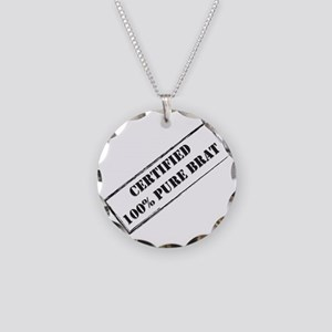 Certified Brat Necklace Circle Charm