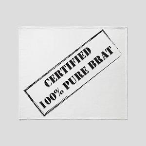 Certified Brat Throw Blanket