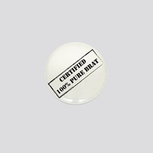 Certified Brat Mini Button