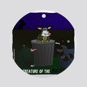 creature of the night Round Ornament