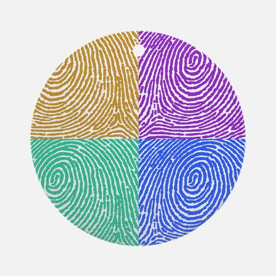 fingerprint Round Ornament