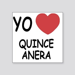 "QUINCEANERA Square Sticker 3"" x 3"""