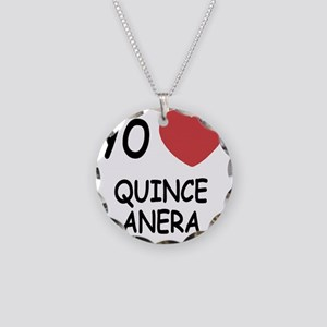 QUINCEANERA Necklace Circle Charm