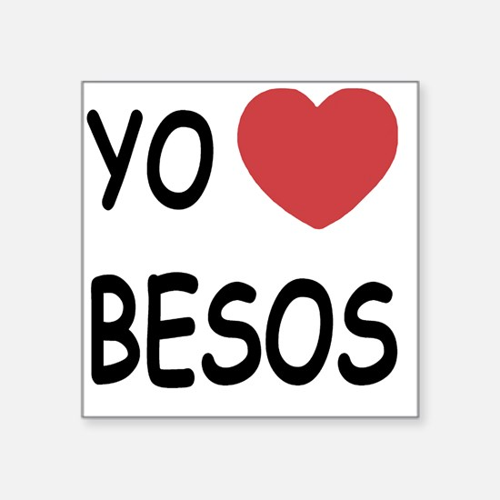 "BESOS Square Sticker 3"" x 3"""