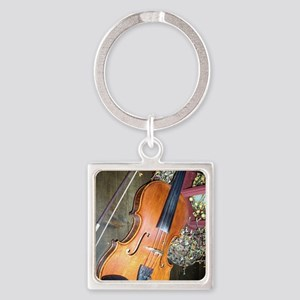 fiddle Square Keychain