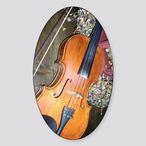 fiddle Sticker (Oval)