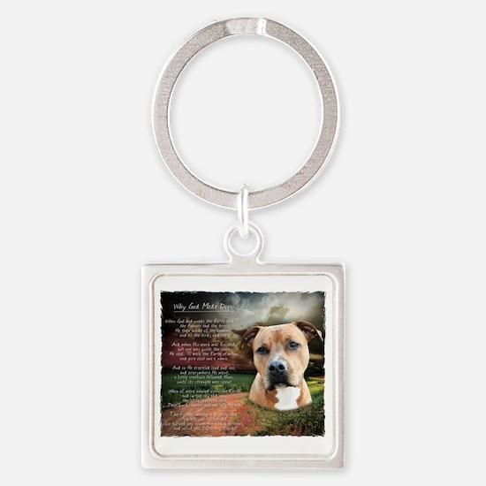 godmadedogs Square Keychain