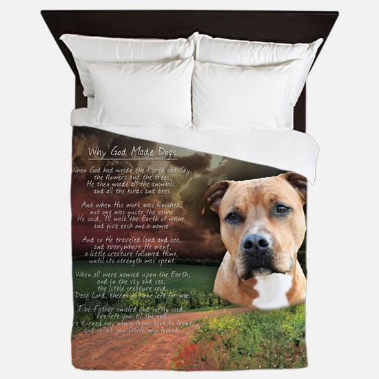 godmadedogs(button) Queen Duvet