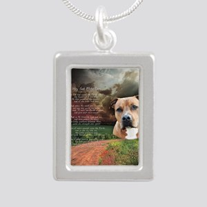 godmadedogs(button) Silver Portrait Necklace