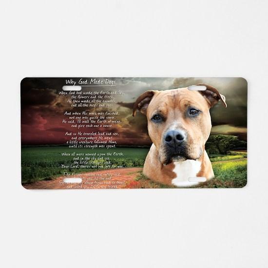 godmadedogs(tote) Aluminum License Plate