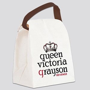 queen-victoria-grayson_bl Canvas Lunch Bag