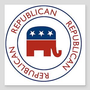 """RepublicanPassport1 Square Car Magnet 3"""" x 3"""""""