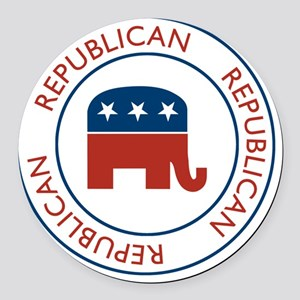RepublicanPassport1 Round Car Magnet