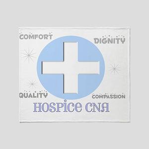 Hospice CNA 2012 BLUE CROSS Throw Blanket