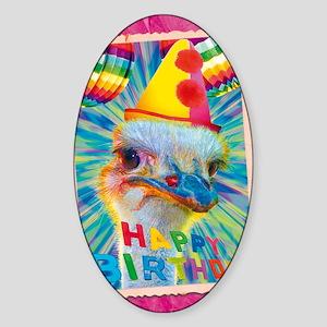 cp-wk-ostrich Sticker (Oval)