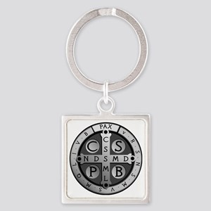 BenedictMedal_ShirtFront Square Keychain
