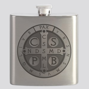 BenedictMedal_ShirtFront Flask