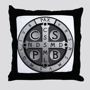 BenedictMedal_ShirtFront Throw Pillow
